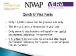 quick u visa facts