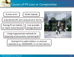 causes of pii loss or compromise