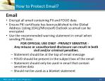 how to protect email