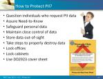 how to protect pii