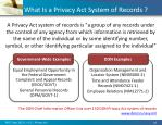 what is a privacy act system of records