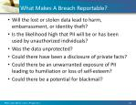 what makes a breach reportable