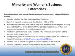 minority and women s business enterprises1