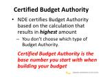 certified budget authority1