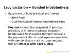 levy exclusion bonded indebtedness