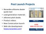 post launch projects