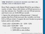s19 7 sensitivity analysis of changing sale price and variable costs on breakeven point1