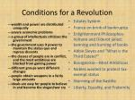 conditions for a revolution