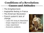 conditions of a revolution causes and attitudes