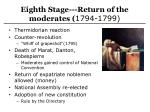 eighth stage return of the moderates 1794 1799
