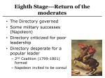 eighth stage return of the moderates