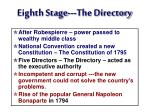 eighth stage the directory