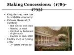 making concessions 1789 1793