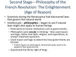 second stage philosophy of the french revolution the enlightenment age of reason