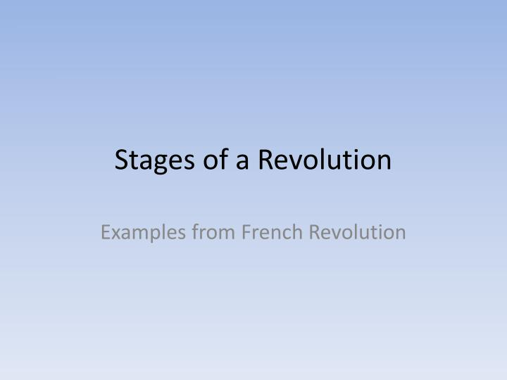 stages of a revolution n.