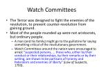 watch committees