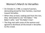 women s march to versailles