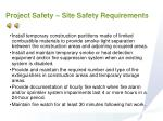 project safety site safety requirements1