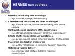 hermes can address