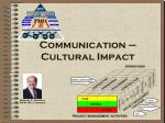 communication cultural impact
