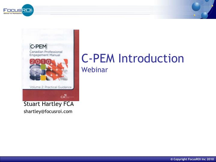 c pem introduction webinar n.