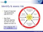 identify assess risk