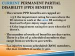 current permanent partial disability ppd benefits