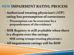 new impairment rating process