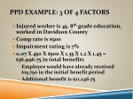 ppd example 3 of 4 factors