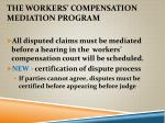 the workers compensation mediation program