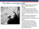 the war in europe ends