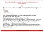 cyber security framework access control and identity management