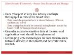 cyber security framework secure data transport and storage