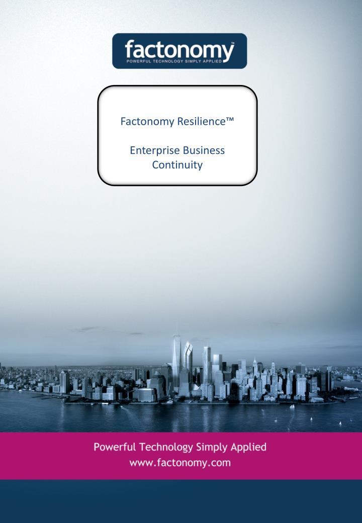 factonomy resilience enterprise business continuity n.