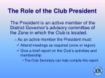 the role of the club president3
