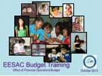 eesac budget training office of financial operations budget