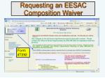 requesting an eesac composition waiver
