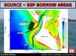 source bsp borrow areas