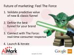 future of marketing f eel the force