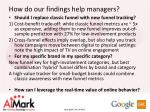 how do our findings help managers
