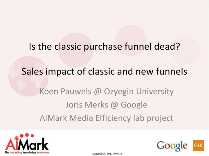 is the classic purchase funnel dead sales impact of classic and new funnels n.