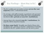 key findings most stay in b c