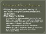 relations with native americans