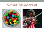 advice from van halen
