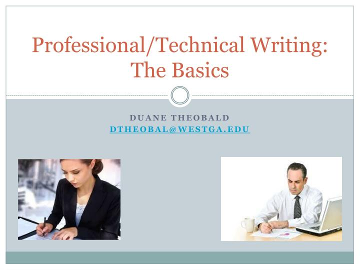 professional technical writing the basics n.