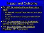 impact and outcome