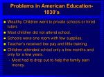 problems in american education 1830 s