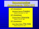reconstruction amendments 1865 1877