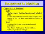 responses to abolition