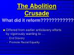 the abolition crusade